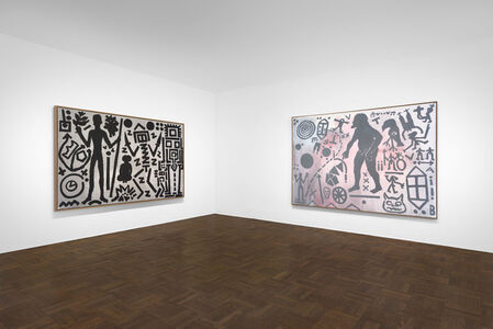 """A.R. Penck: Paintings from the 1980s and Memorial to an Unknown East German Soldier"""