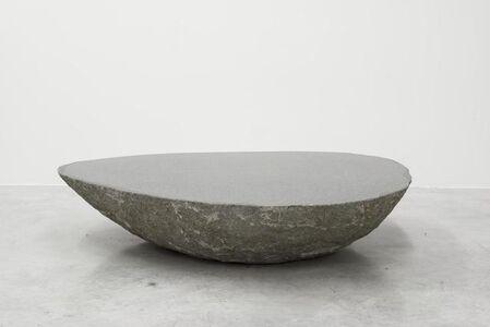 Big low round boulder table