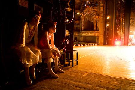 Yana and Yulia Backstage
