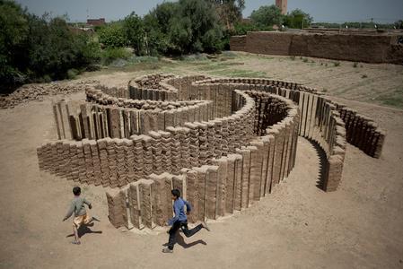 Mud Brick Spiral (aerial)