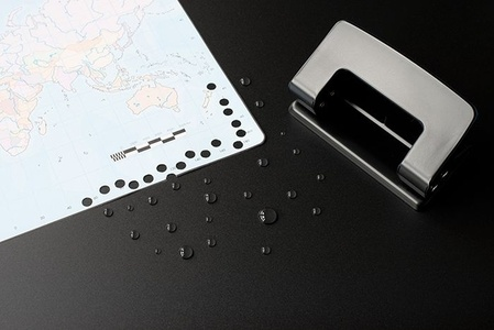 Map with Hole Puncher