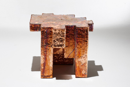 Copper Fossil Table
