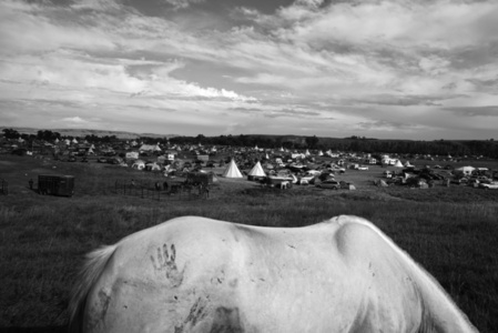 Sioux protest camp. Cannon Ball, North Dakota. USA.