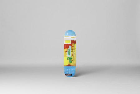 Gas Truck Skate Board  (Estate of Jean-Michel Basquiat in Collaboration with Artestar)