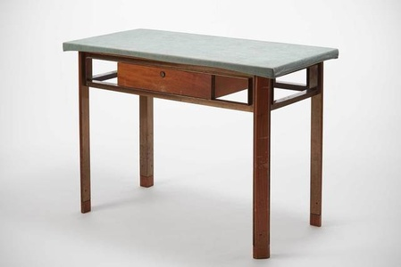 Small desk with green top