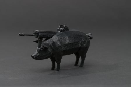#pig #gun