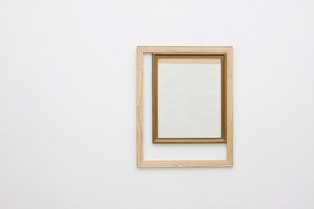 Frame Inside a Wood Structure