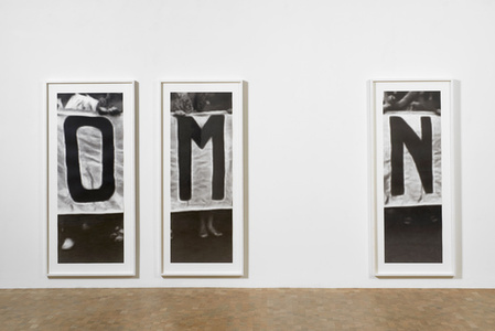 O, M, N (installation view)