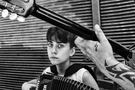 The girl with the accordion