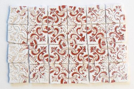 Azulejinho Vermelho, Branco e Creme. Padrão #2