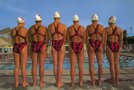The Stanford's University Women's Swim Team, Paolo Alto, California, 2001