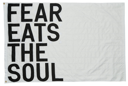Untitled 2017 (fear eats the soul) (white flag)