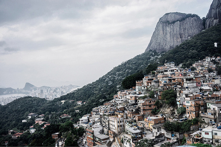 View of Ipanema from Rocinha Favela, Rio de Janeiro,Brazil