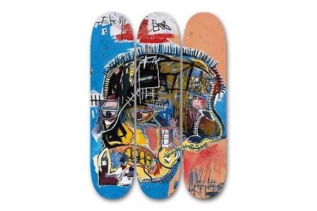 Skateboard Triptych (Skull)