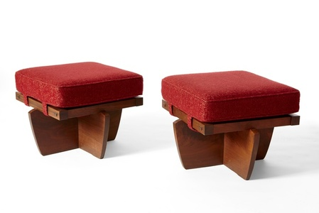 "Pair ""Greenrock"" Ottomans"