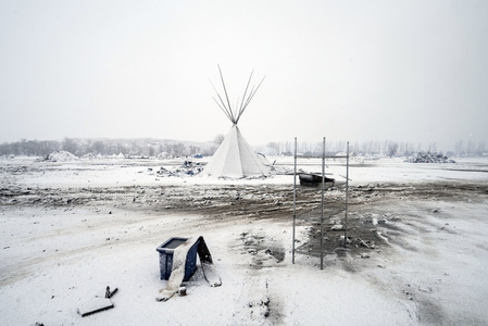Oceti Sakowin Camp the day the inhabitants were told to evacuate.