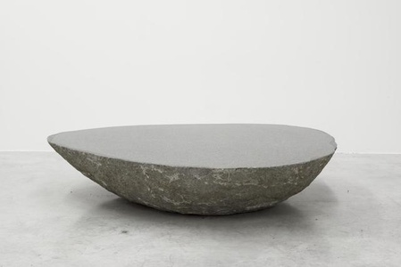 Big low round boulder table