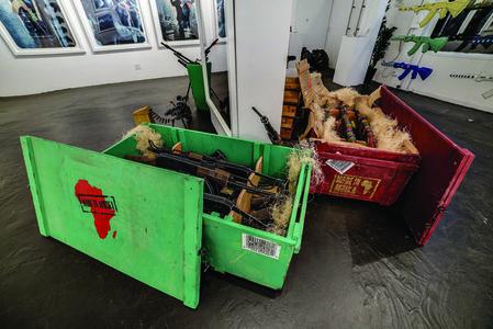 Beaded AK47's in Crate (7 Guns)
