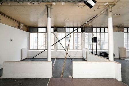 Vue de l'installation de Mimosa Echard (View of Mimosa Echard's installation)