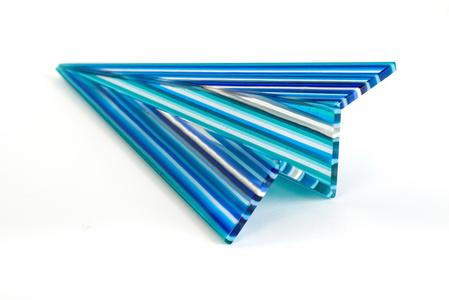 Glass Paper Plane