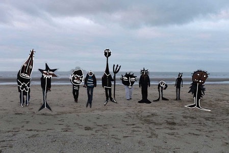 Untitled (monsters on the beach)
