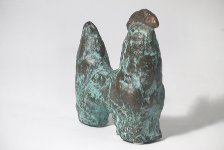 """Gallo"" bronze sculpture"