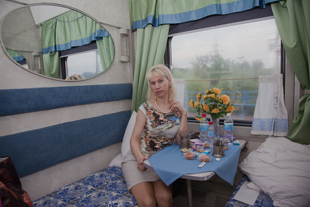On the Tran-Siberian Railway at Khabarovsk