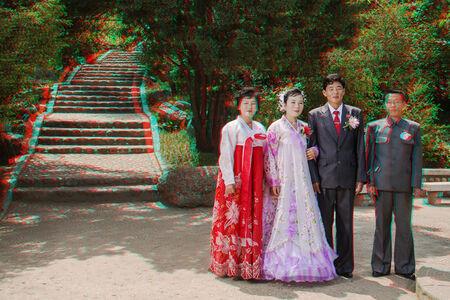 #94. KIM YONG IL, Groom, 30 + RI HYON A, Bride, 26, Tonghungsan Park, Hamhung