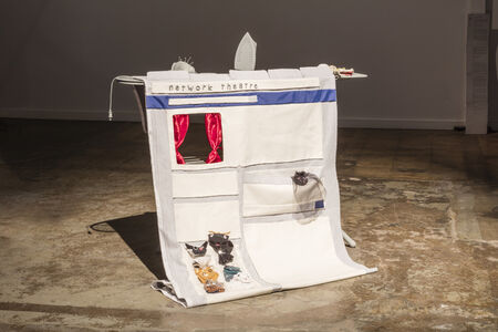 """Sockpuppet Theatre representing the type of civil and domestic environments where """"normal"""" people interact in convivial social forums, sharing personal information and deliberating on the political issues of the day, and where also agents adopt and season personas with the veneer of such normalcy in order to manipulate and deceive, and distort the discourse of such environments to their own ends."""
