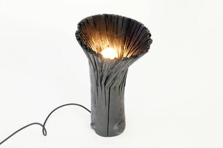 Pressed Wood Black Table Light