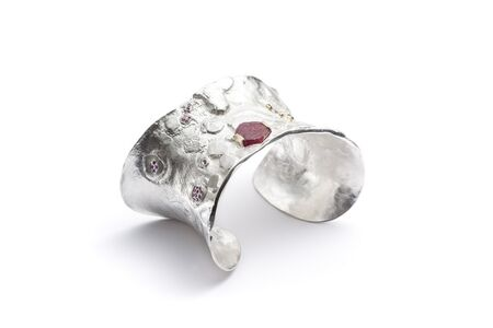 Ruby and pink sapphire cuff