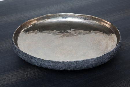 Round CERAMIC bowl with Platinum by Cristina Salusti