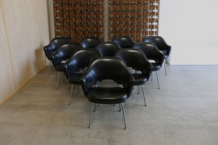 Set of Ten Eero Saarinen for Knoll Executive Armchairs