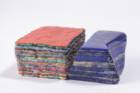 """Stratificazione con lapislazzulo (blu e rosso) """"... la materia qui è infatti così densa..."""", Venezia"""