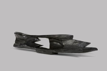 Ebony abstract horizontal sculpture