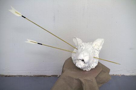 Hunted Hunter's Head Sculpture