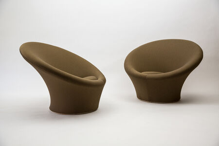 Pair of Large Mushroom Chairs, Model F562