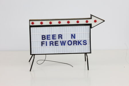 Beer and Fireworks Sign