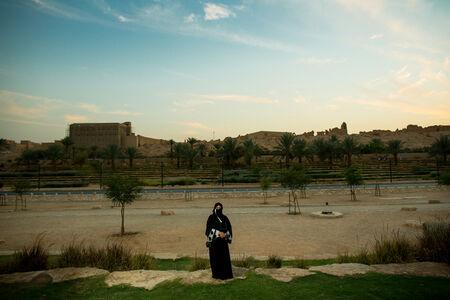 Aljazi Alhossaini, is a retired university admin running for municipal office. Dariya, Saudi Arabia