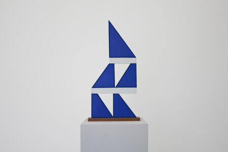 Untitled (blue triangle stack)