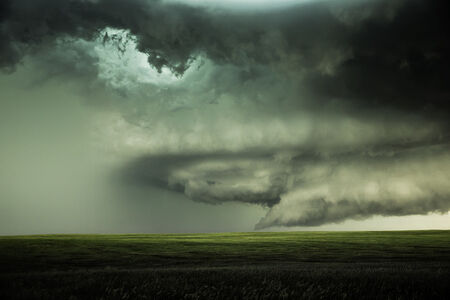 Supercell with Hail. Chugwater, Wyoming