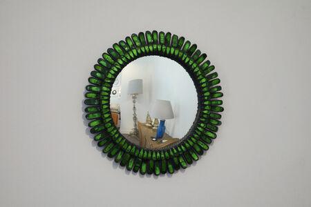 "Green ""Gerbera"" mirror"