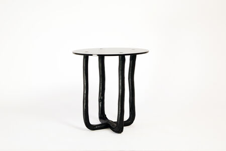 Pressed Wood Black Side Table