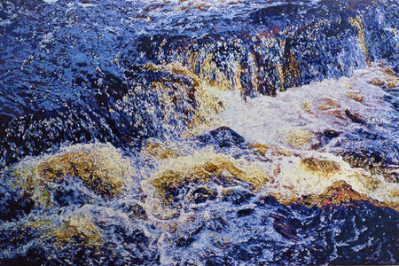 Cascade in Blue and Gold