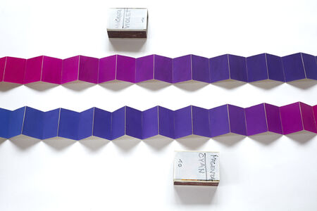 Minimum distances gama (Magenta-Violet and Magenta-Cyan), from the series Collection of Colours