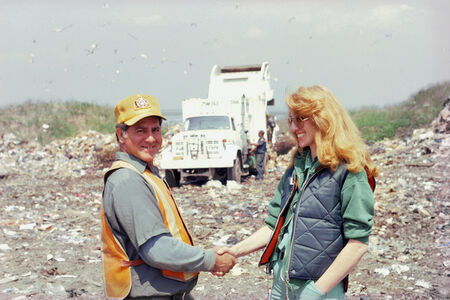 """Touch Sanitation Performance: """"Hand Shake Ritual"""" with workers of New York City Department of Sanitation"""