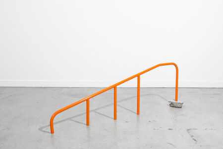 Orange Handrail (too low)
