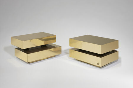 """Pair of """"Scultura"""" coffee tables"""