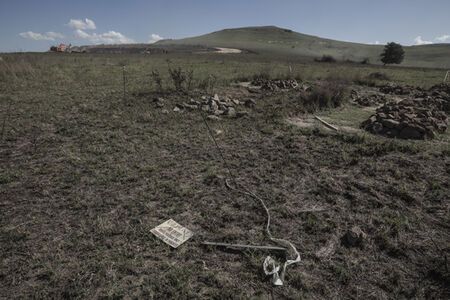 Driefontein graves, exhumation in progress