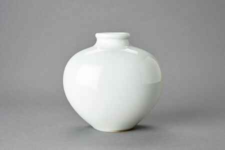 Large Oval Vase, Thick Rim